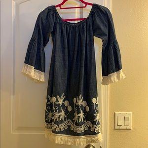 Shyanne Denim & Embroidered Dress (BOOT BARN)